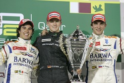 Podium: winner Nico Hulkenberg, second place Sergio Perez, third place Vitaly Petrov