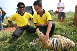 Fairuz Fauzy, driver of A1 Team Malaysia and Aaron Lim, driver of A1 Team Malaysia at the Rhino and Lion Nature Reserve