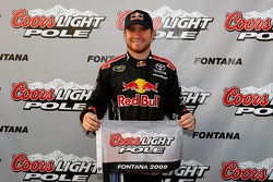 Pole winner Brian Vickers, Red Bull Racing Team Toyota
