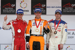 Podium: race winner Jeroen Bleekemolen, second place Filipe Albuquerque, third place Neel Jani