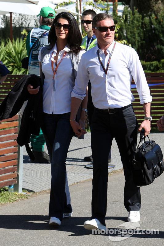 Karen Minier mit David Coulthard
