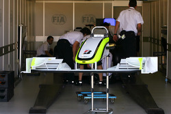 Brawn GP in the scrutineering