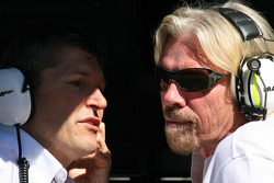 Nick Fry, BrawnGP, Chief Executive Officer and Sir Richard Branson CEO of the Virgin Group