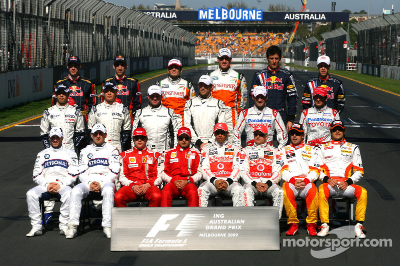 Familiefoto: de klas van 2009 in de Formule 1