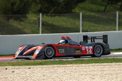 #14 Kolles Audi R10 TDI: Andrew Meyrick, Michael Krumm, Charles Zwolsman