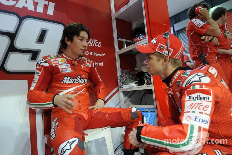 Nicky Hayden, Ducati Marlboro Team, y Casey Stoner, Ducati Marlboro Team