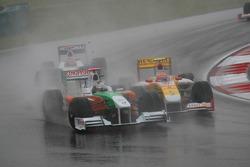 Адриан Сутиль, Force India F1 Team и Нельсон Пике мл., Renault F1 Team