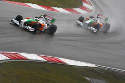 Джанкарло Физикелла, Force India F1 Team и Адриан Сутиль, Force India F1 Team