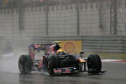 Sebastien Buemi, Scuderia Toro Rosso after his crash with Sebastian Vettel, Red Bull Racing