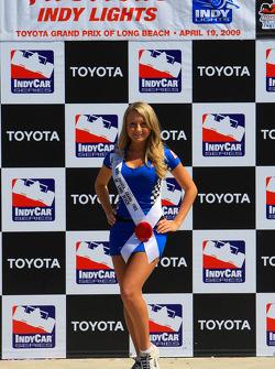Podium: a lovely Miss Grand Prix of Long Beach