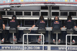 Red Bull Racing pit wall