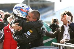 GT2 second place Luis Perez Companc and Matias Russo celebrate