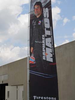 Raphael Matos, Luzco Dragon Racing has his banner outside his garage