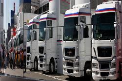 BMWSauber trucks, atmosphere