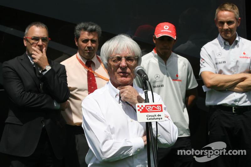 Bernie Ecclestone, Lewis Hamilton, McLaren Mercedes
