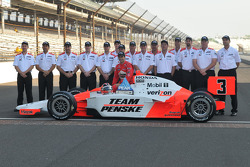 Front row shoot: Helio Castroneves, Penske Racing
