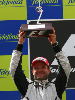 Podium: second place Rubens Barrichello, Brawn GP