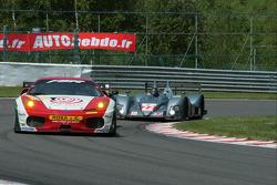 #90 FBR Ferrari F430 GT: Pierre Ehret, Dominik Farnbacher, Anthony Beltoise and #22 Team LNT Ginetta-Zytek 09S: Robbie Kerr, Guy Smith, Lawrence Tomlinson