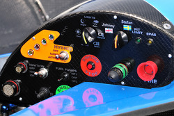 #48 Corsa Motorsports Ginetta-Zytek 09HS Zytek instrument panel detail