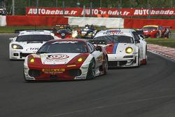 #91 FBR Ferrari F430 GT: Gabrio Rosa, Andrea Montermini, Giacomo Petrobelli; #94 Prospeed Competition Porsche 997 GT3 RSR: Markus Palttala, Paul Daniels