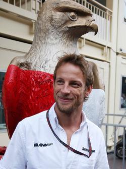 Jenson Button, Brawn GP with the Monaco eagle