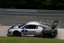 #100 Team Abt Sportsline Audi R8 LMS: Timo Scheider, Marco Werner, Matthias Ekström