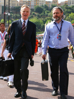Max Mosley, FIA President and Richard Woods, FIA