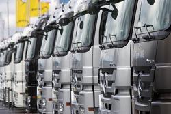 Mercedes teams transporters