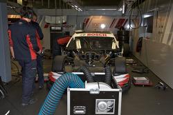 Audi Sport Team Abt Audi A4 DTM garage area