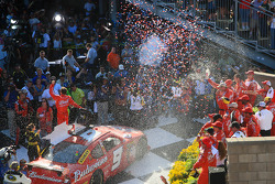 Victory lane: race winner Kasey Kahne, Richard Petty Motorsports Dodge celebrates