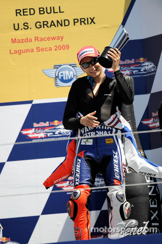 Podio: tercer lugar Jorge Lorenzo, Fiat Yamaha Team