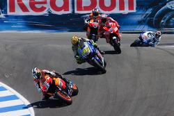 Dani Pedrosa, Repsol Honda Team, Valentino Rossi, Fiat Yamaha Team, Casey Stoner, Ducati Marlboro Team