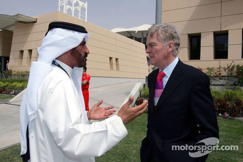 FIA's Vice-President for sport and 14-time Middle East Rally Champion Mohamed Ben Sulayem with the president of the FIA Max Mosley