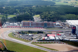 Aerial views of the Nurburgring and the new development and facilities around it and the dorint hotel