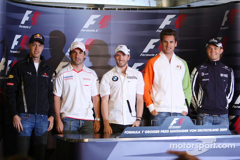 FIA press conference: the 5 german drivers, Sebastian Vettel, Red Bull Racing, Timo Glock, Toyota F1