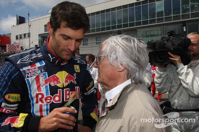 Mark Webber, Red Bull Racing en Bernie Ecclestone