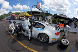 Pit stop for #92 BMW Rahal Letterman Racing Team BMW E92 M3: Tom Milner, Dirk Muller