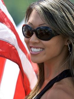 A lovely flag girl