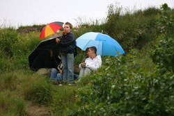 People in the dunes