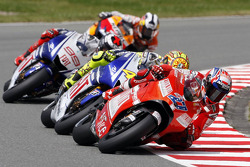 Casey Stoner, Ducati Team, Valentino Rossi, Fiat Yamaha Team, Jorge Lorenzo, Fiat Yamaha Team, Dani Pedrosa, Repsol Honda Team