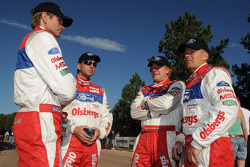 The Ford Fiesta Pikes Peak team, from left to right: Marcus Gronholm, Per Ola Svensson, Andreas Eriksson, and Timo Alanne