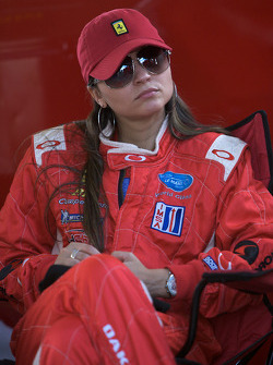 A lovely Risi Competizione team member watches the race