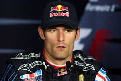 Post-race press conference: third place Mark Webber, Red Bull Racing