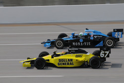 Tomas Scheckter, Dreyer & Reinbold Racing running with Sarah Fisher, Sarah Fisher Racing