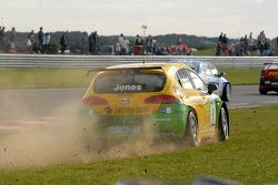 Adam Jones runs off track