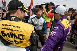 Matt Kenseth, Roush Fenway Racing Ford, John Andretti, Earnhardt Ganassi Racing Chevrolet and Jamie McMurray, Roush Fenway Racing Ford