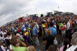 Overall view of pre-race activities