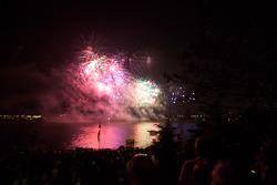 Fireworks on Saturday night