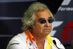 FIA press conference: Flavio Briatore, Renault F1 Team, Team Chief, Managing Director