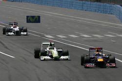 Mark Webber, Red Bull Racing et Jenson Button, Brawn GP